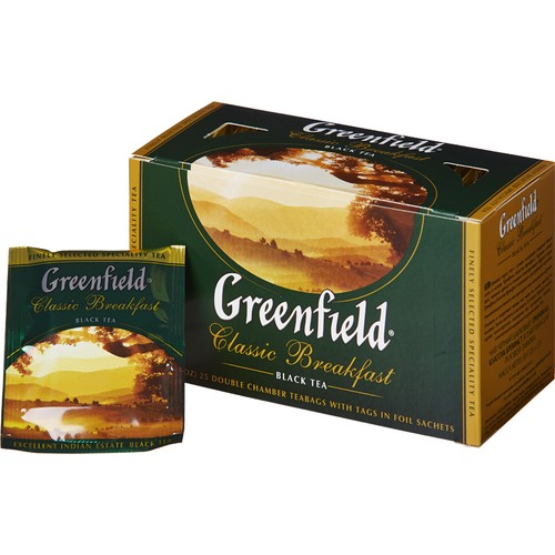 Чай Greenfield Classic Breakfast черный фольгир. 25пак