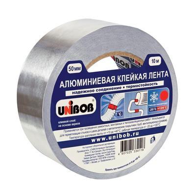 Клейкая лента алюминиевая Unibob 50 мм x 10 м 70 мкм серая в Петербурге.