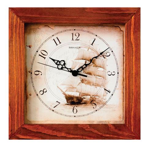 часы настенные салют дс 2ас28 176 квадрат с рисунком парусник